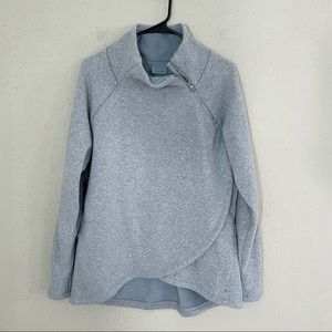 Athleta Cozy Karma Asym Pullover Gray Large